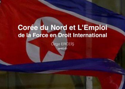 Corée du Nord et L'Emploi de la Force en Droit International