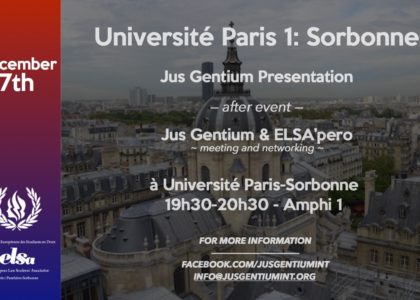 Jus Gentium Panthéon Sorbonne Meeting